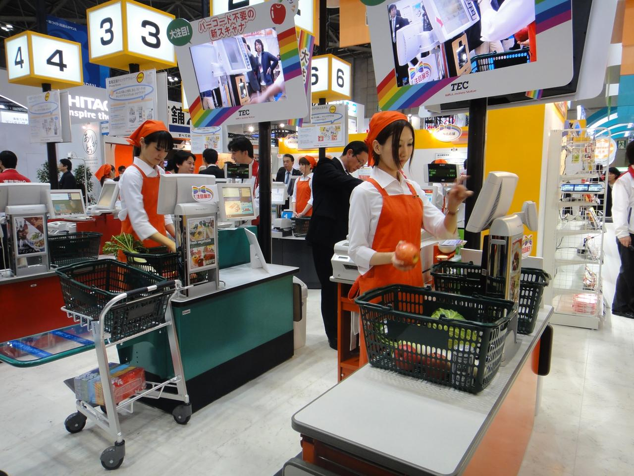 Toshiba Tec's new supermarket scanner is able to identify grocery items based on their appearance, not barcodes (Photo: DigInfo)
