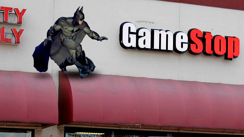 Batman will be grappling into GameStop on Black Friday (original image: Dwight Burdette)