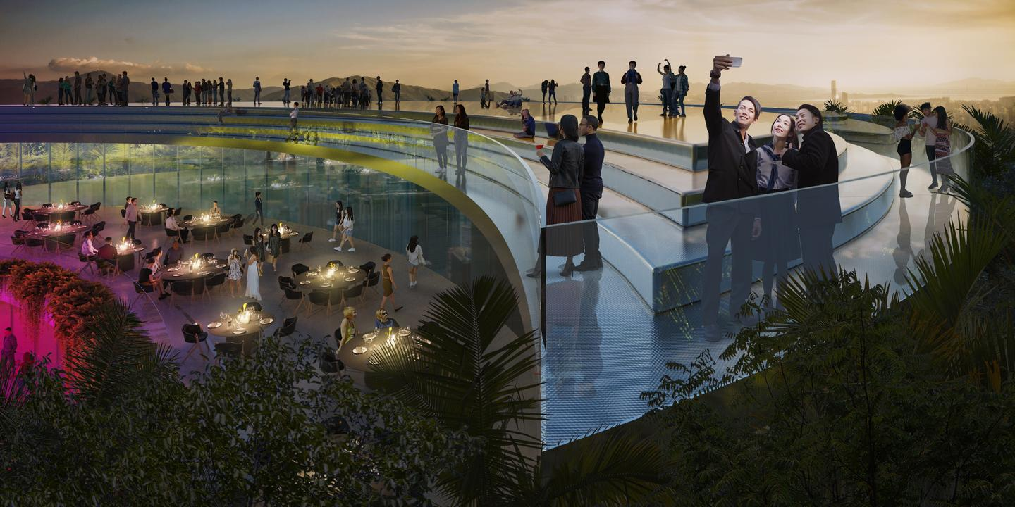 The Jian Mu Tower would feature a rooftop terrace area