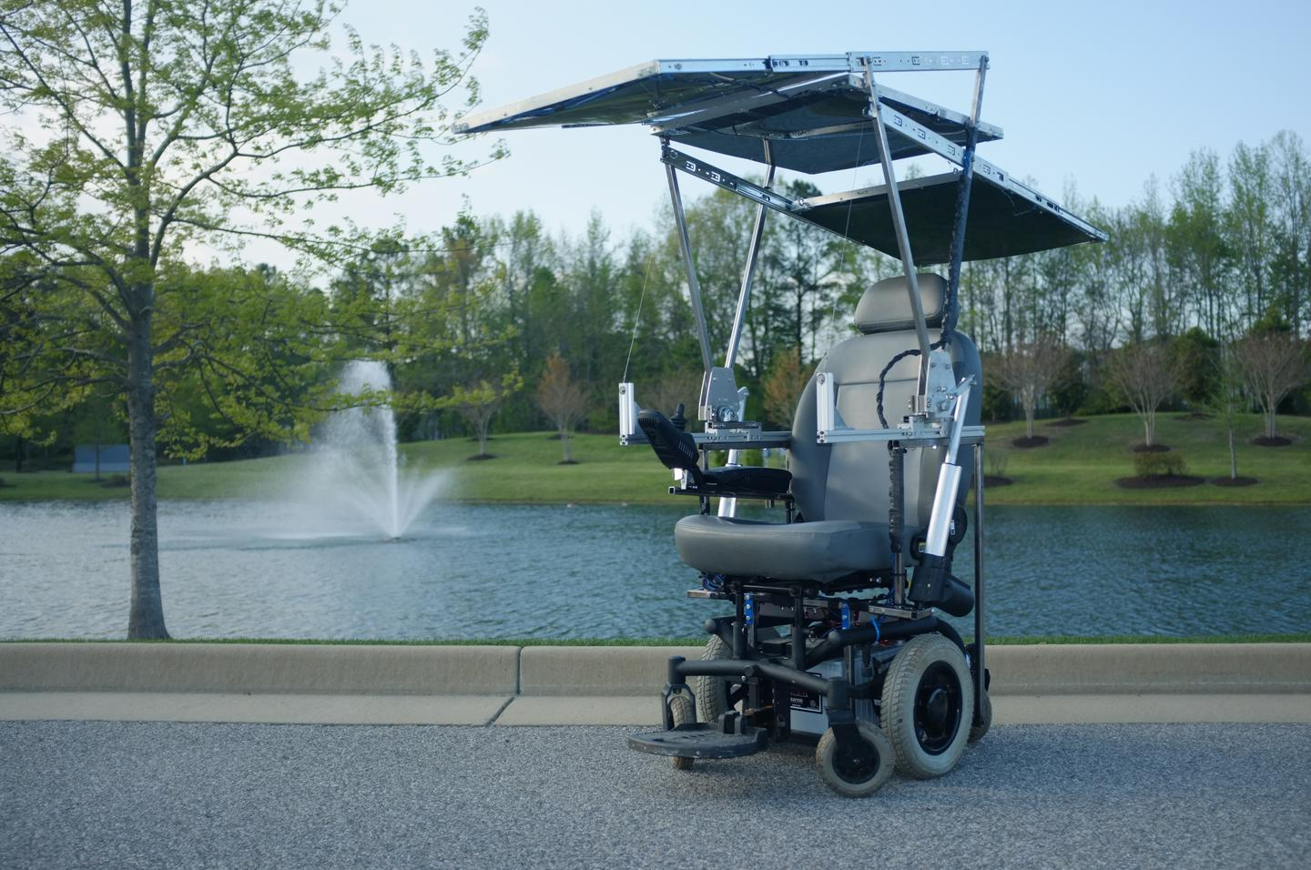 The University of Virginia solar-powered wheelchair