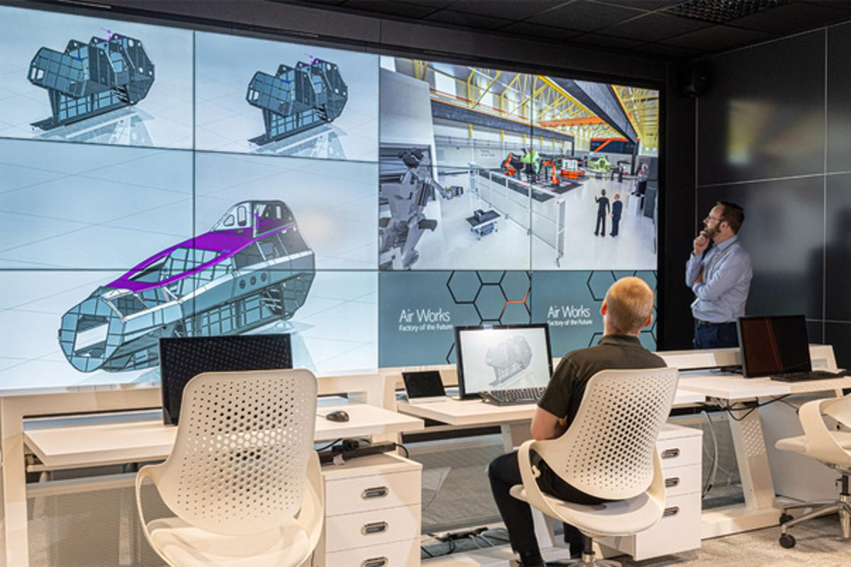 The virtual office is central to BAE Systems' smart factory