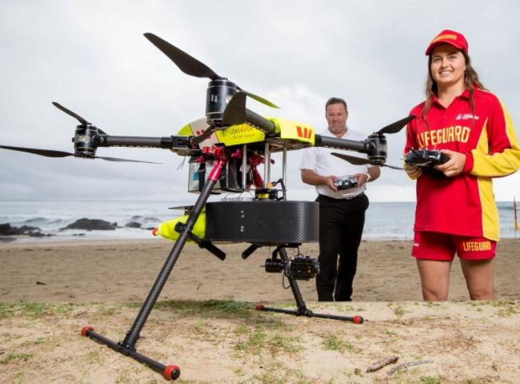 The Little Rippers program uses a number of small-to-medium-sized UAVs for surf lifesaving purposes