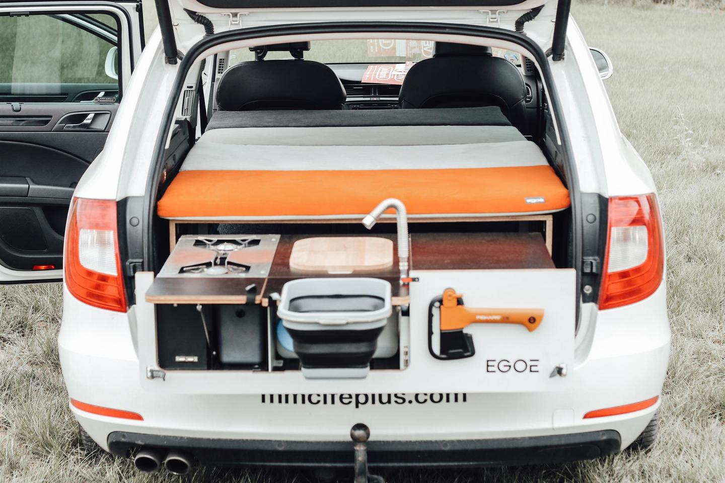 The Egoé Nestbox Camper is the smallest camper box in the line, designed for smaller vehicles like crossovers and station wagons