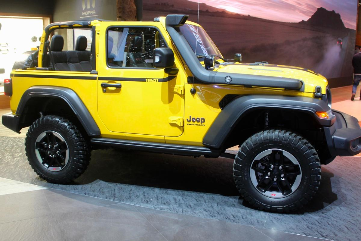 The Jeep Wrangler looking particularly off-road-ready