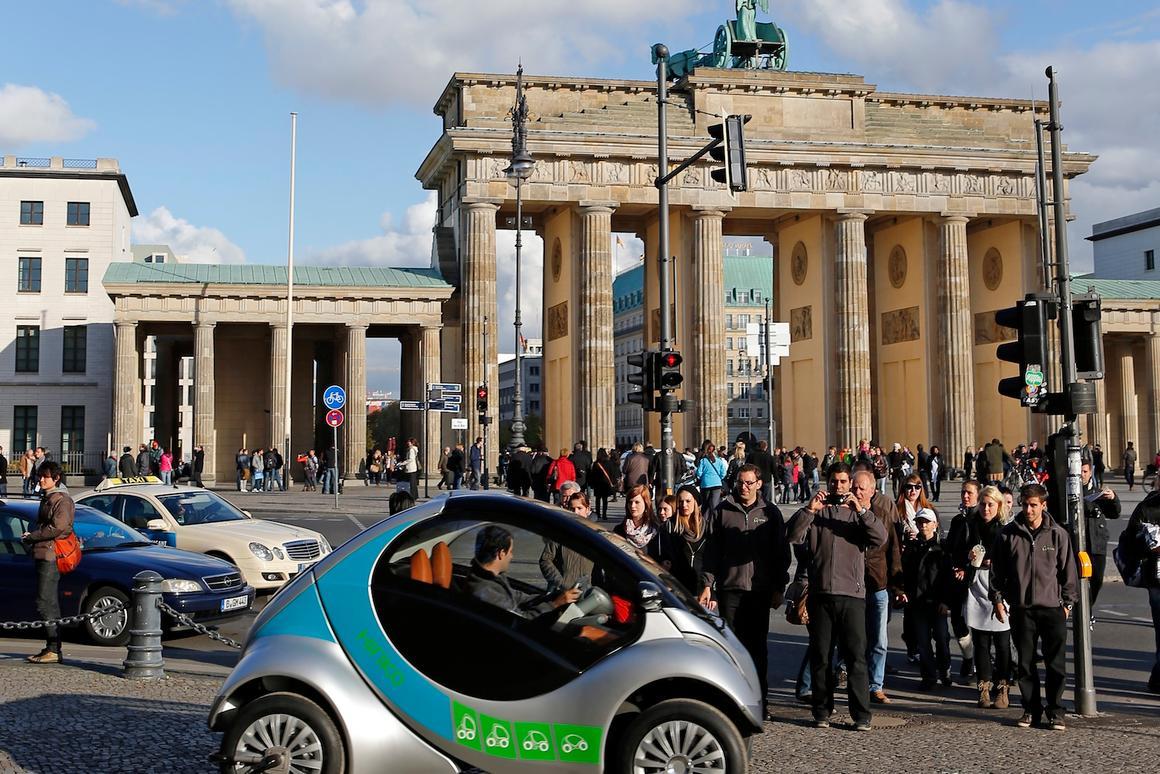 The Hiriko folding electric car has been chosen for a car-sharing program in Berlin
