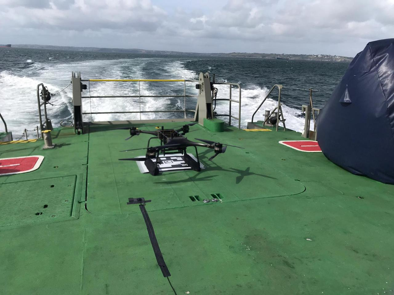 Minerva drones were used in the person overboard tests
