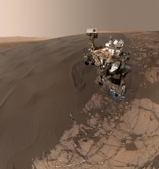 Mars Curiosity rover recorded images of the Bagnold Dune Field