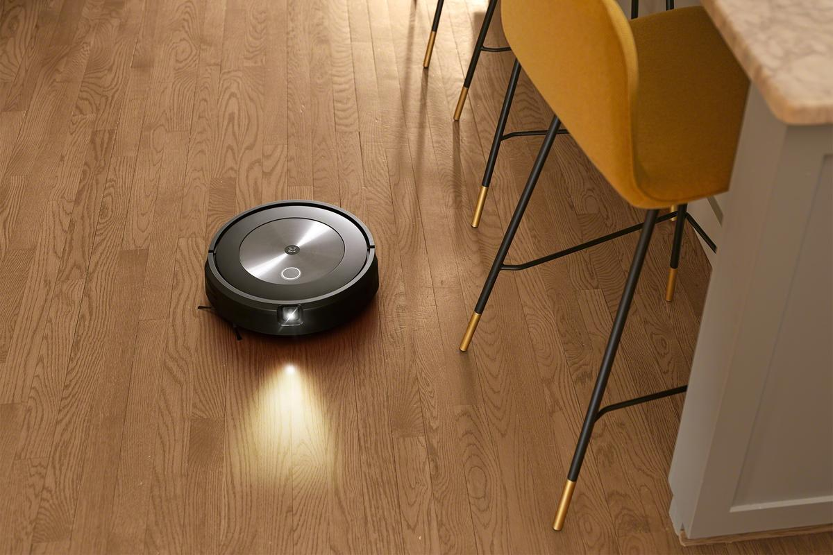 The Roomba j7 packs a headlight-equipped visible light camera