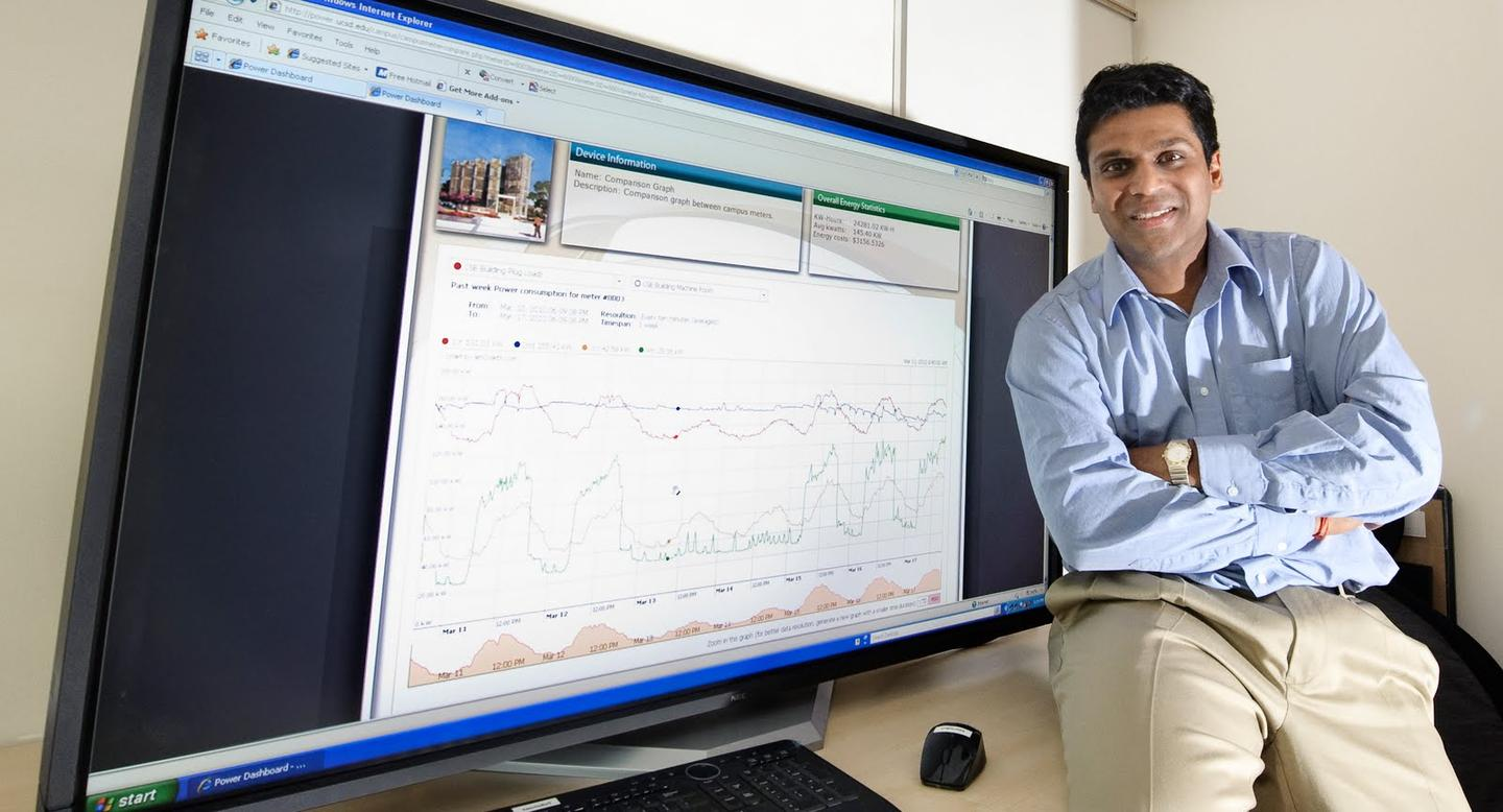 Yuvraj Agarwal, the UC San Diego Research Scientist in the Department of Computer Science and Engineering who developed SleepServer (credit: UC San Diego / Erik Jepsen)