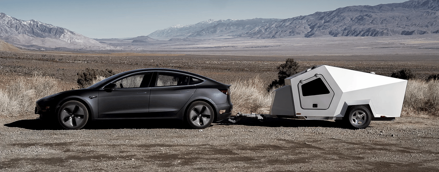 Polydrops designs lightweight trailers with EV towing in mind, and tested the new P17A using a Tesla Model 3 as the tow car