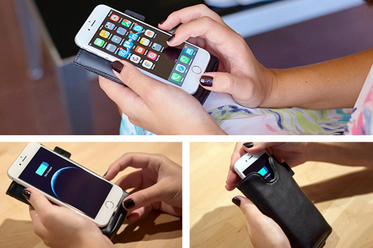 The Ampere wireless charging sleeve aims to make it easier to keep devices powered on the go