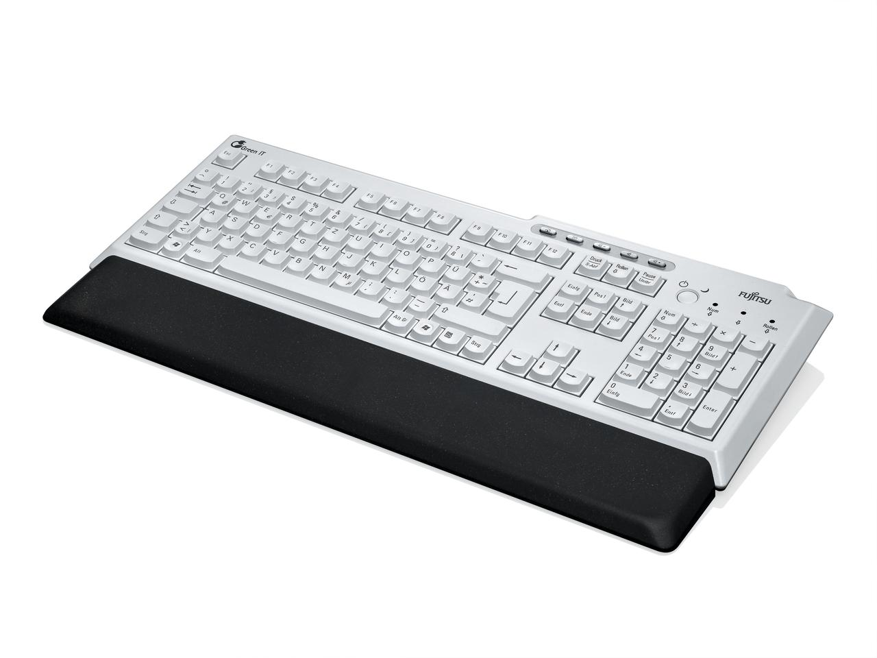 Fuijitsu's KBPC PX ECO keyboard, which is manufactured using 45 per cent less plastic than others on the market
