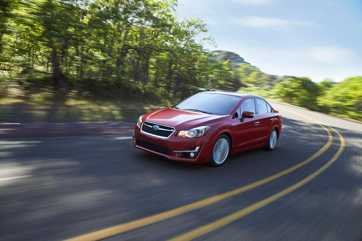 The 2015 Impreza's styling has been tweaked to bring it into line with the new Legacy and Outback