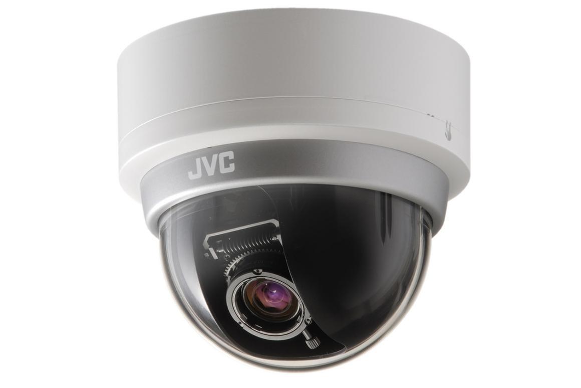 The JVC TK-C2201E compact fixed dome camera