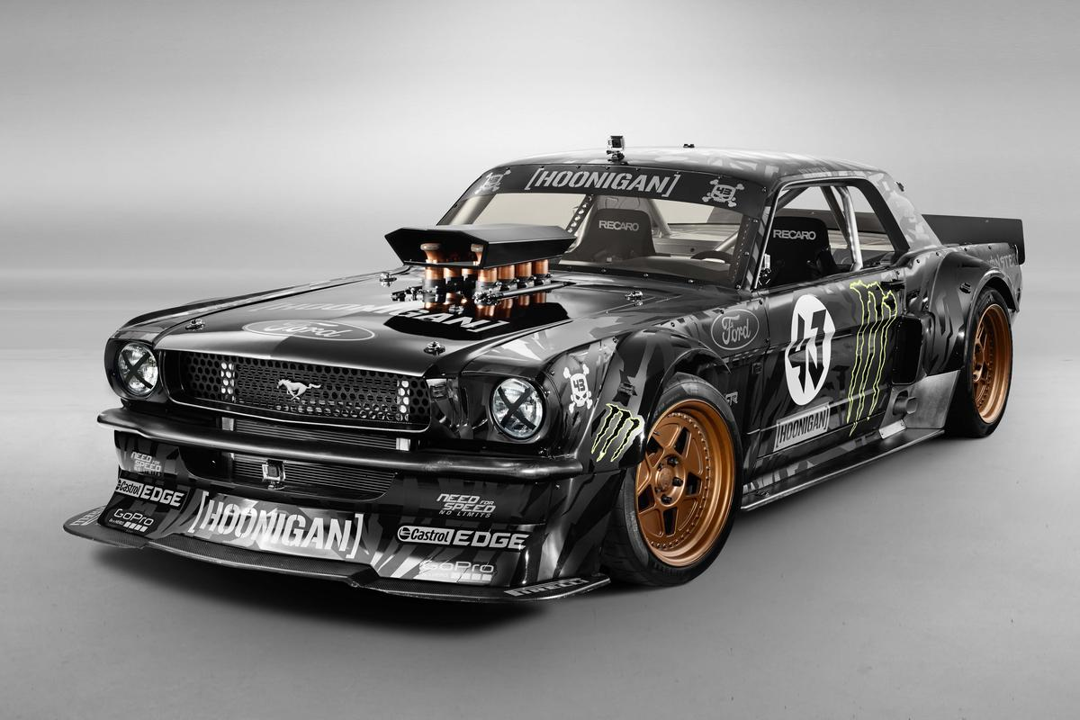 The Hoonicorn Mustang was on display at SEMA in Las Vegas