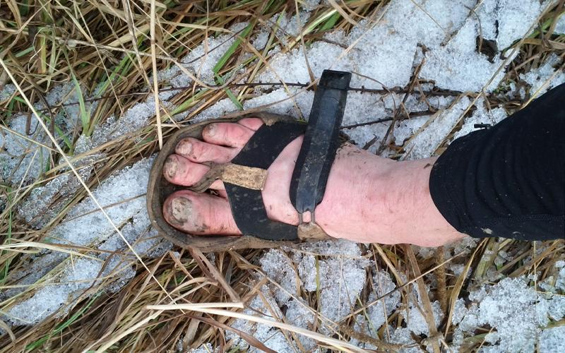 """A half-soled running sandal billed the """"only barefoot shoe that deserves the name"""""""