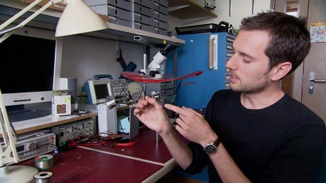 Mirko Kovac with a perching-enabled micro glider
