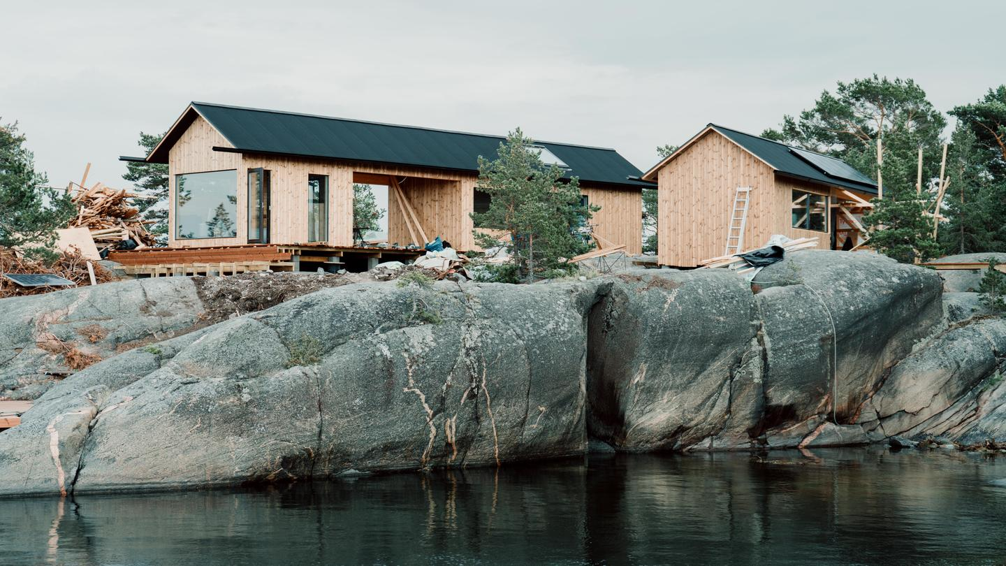 Finnish architects Aleksi Hautamäki and Milla Selkimaki have recently completed the first stage of their two stage island project