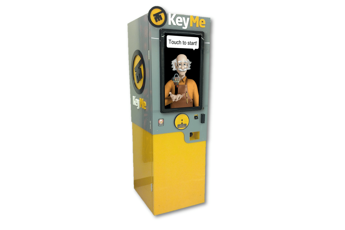 The KeyMe kiosk stores keys as digital patterns in the cloud for latter duplicating