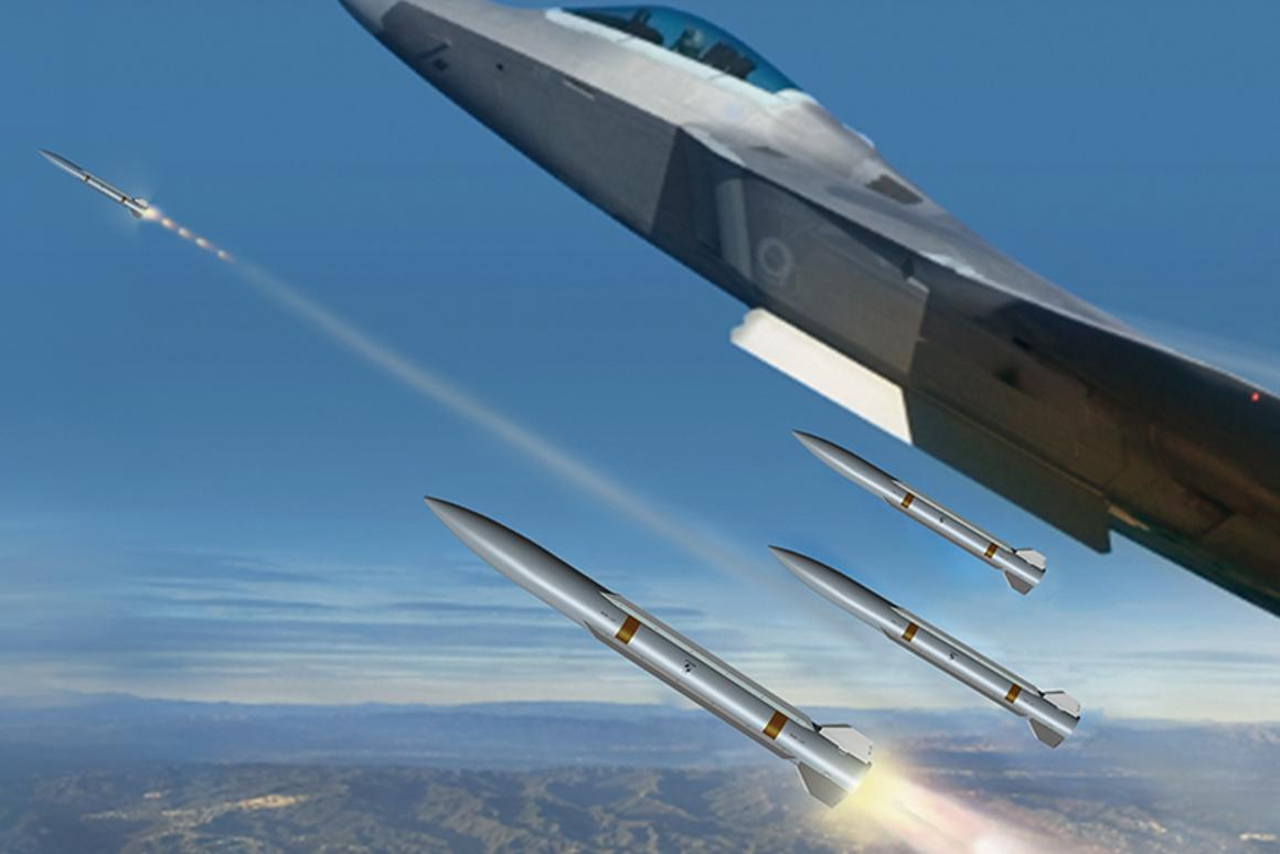 Artist's concept of the Peregrine medium-range, air-to-air missile