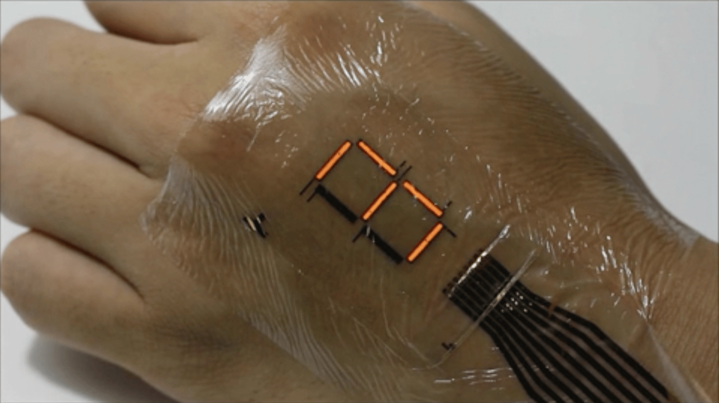 The e-skin developed at the University of Tokyo is just three micrometers thick