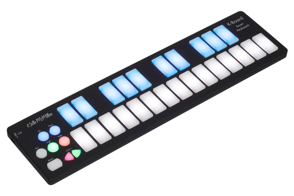 The K-Board USB MIDI keyboard can survive being run over by a tour van and a drop from a 2-story building