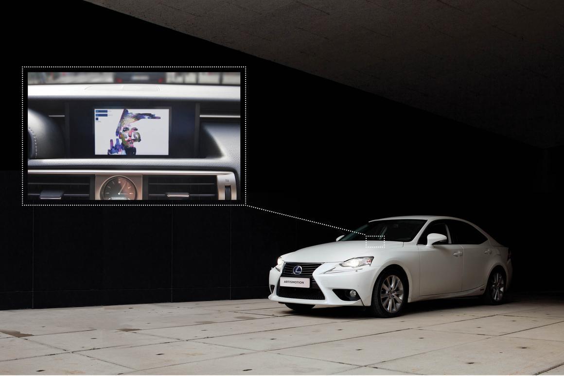 Art is Motion is installed in a Lexus IS 300h sedan