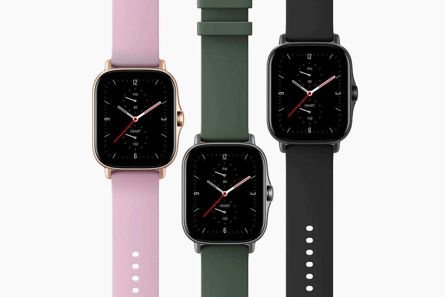 The Amazfit GTS 2e is available in three color combinations