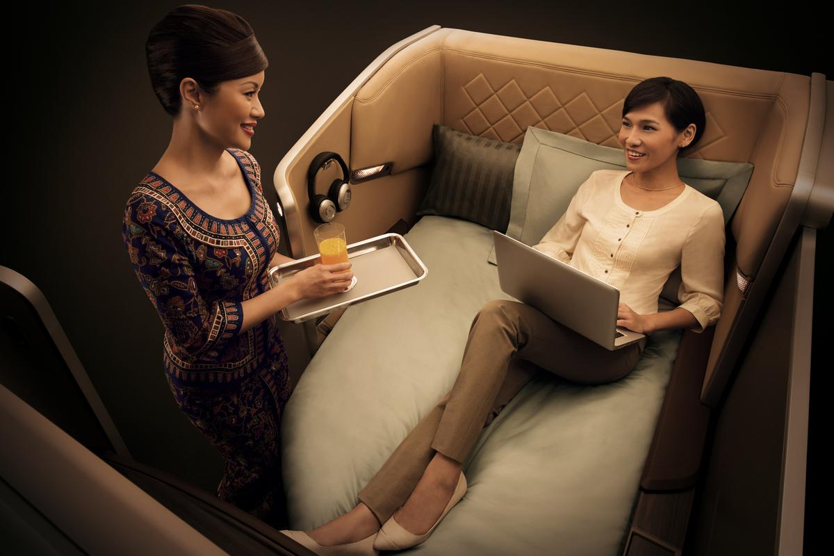 The next-generation First Class seats puts a premium on comfort and privacy