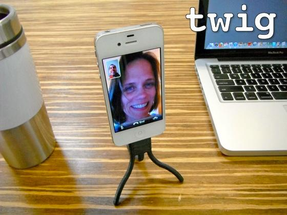 Twig can be used as a tripod for your iPhone