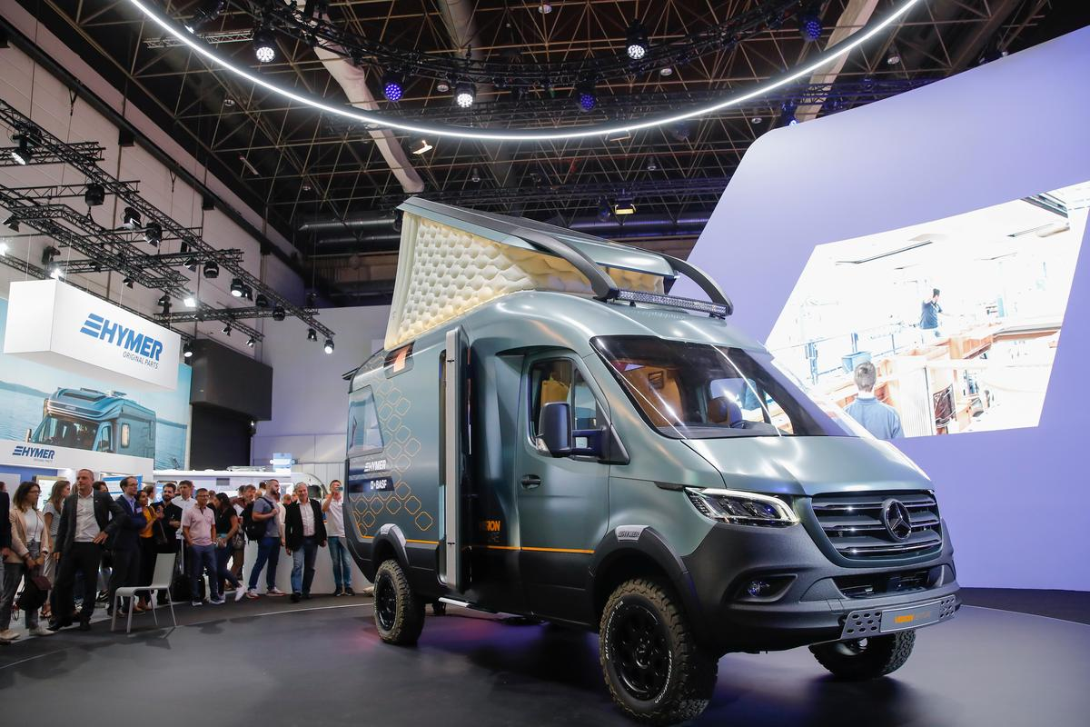 The Hymer Vision Venture makes its world premiere at the 2019 Düsseldorf Caravan Salon