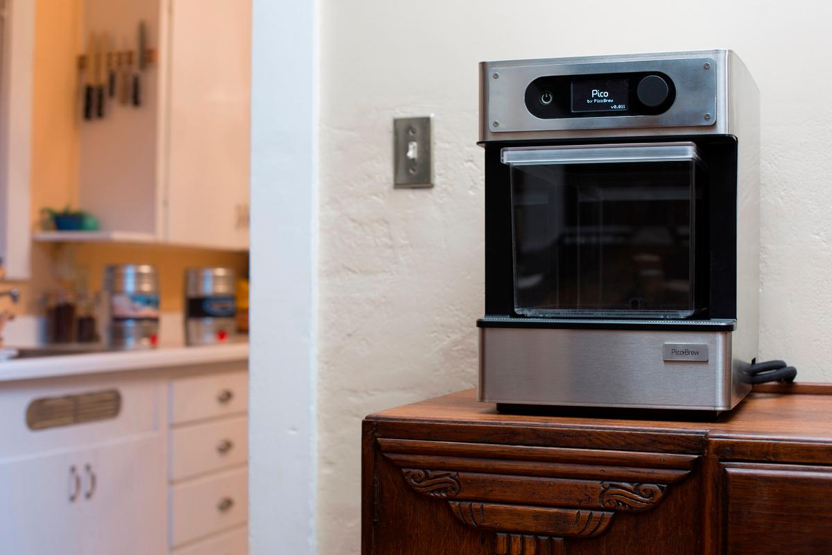 The PicoBrew Pico is designed to fit on a kitchen counter