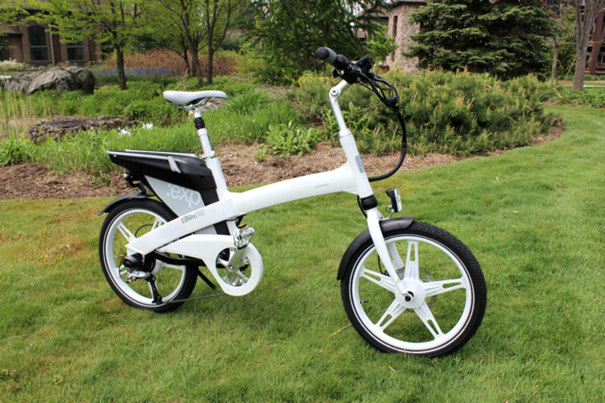 The iZip E3 Town:exp on display at the Charged Up electric bike media event in New Jersey