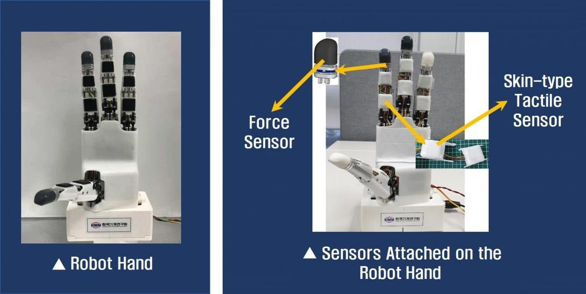 Force and tactile sensors enable a new robotic hand to grasp delicate objects
