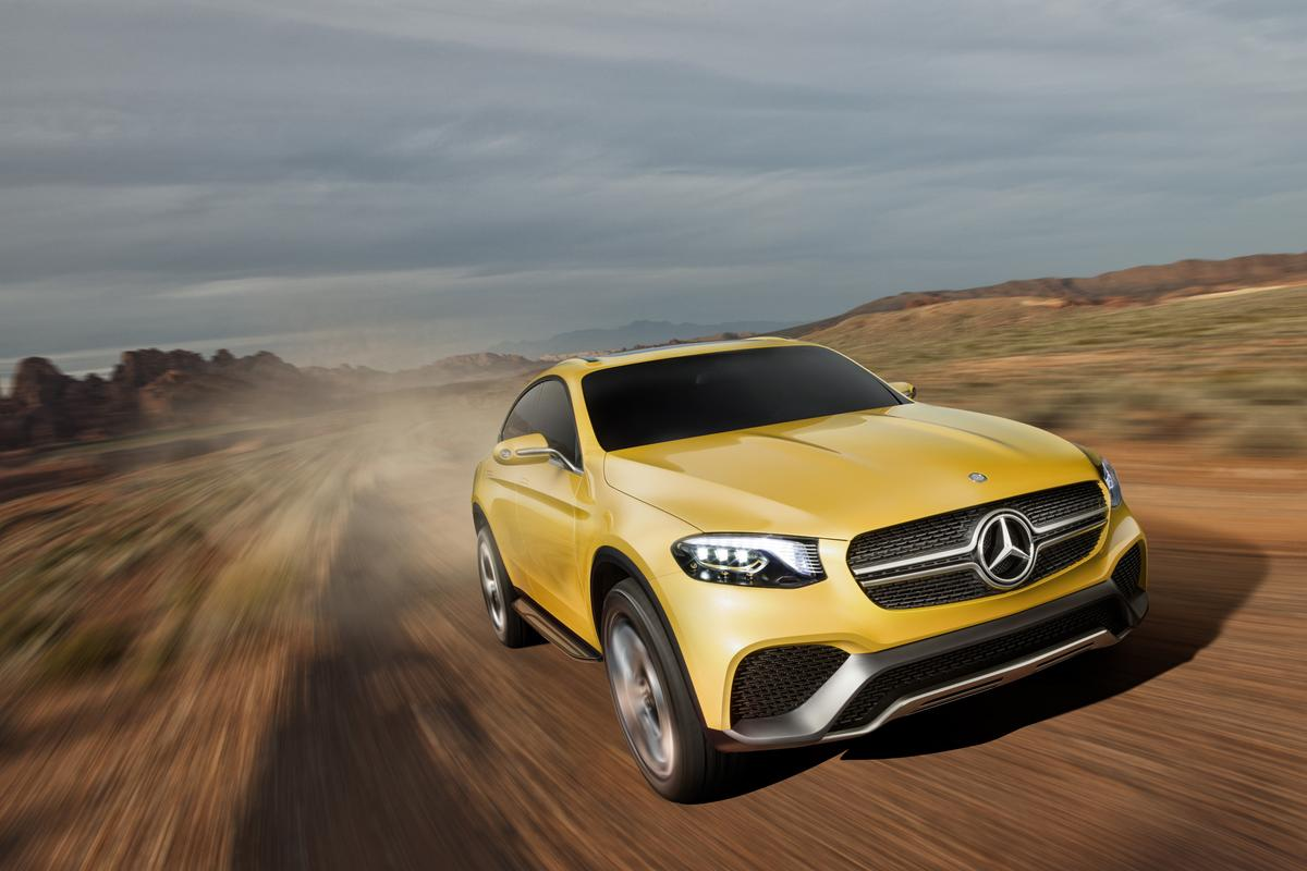 The Mercedes-Benz Concept GLC Coupé blends the SUV and the coupé