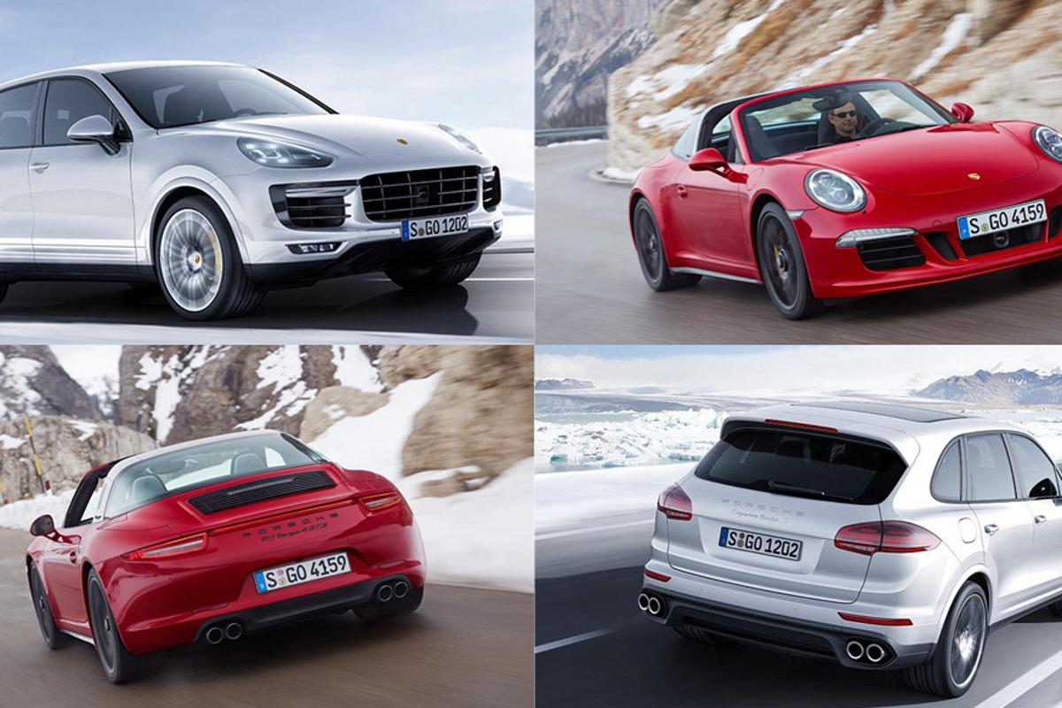 The Porsche 911 Targa 4 GTS and Cayenne Turbo S made their world debut at the NAIAS in Detroit