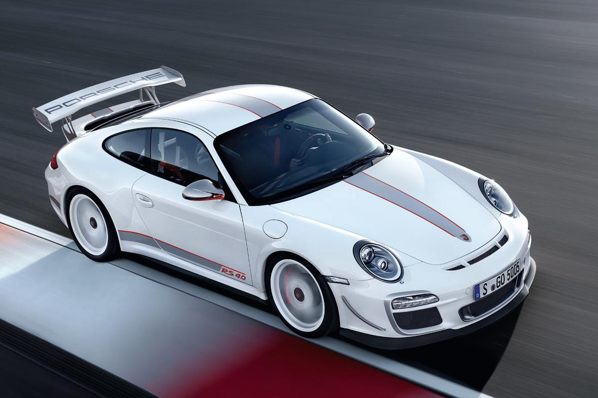 """The GT3 RS 4.0 is the first production Porsche to wear """"flics"""", the distinctive lateral front air deflection vanes previously only seen on race cars"""