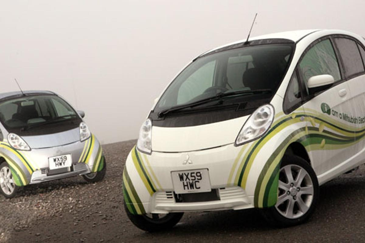 The fast-charging zero-emission Mitsubishi i-MiEV