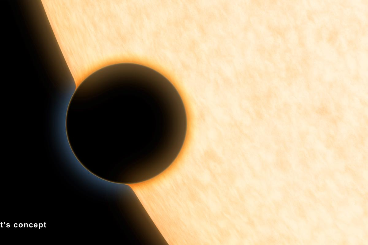 Artist's concept of HAT-P-11b crossing in front of its star (Image: NASA/JPL-Caltech)