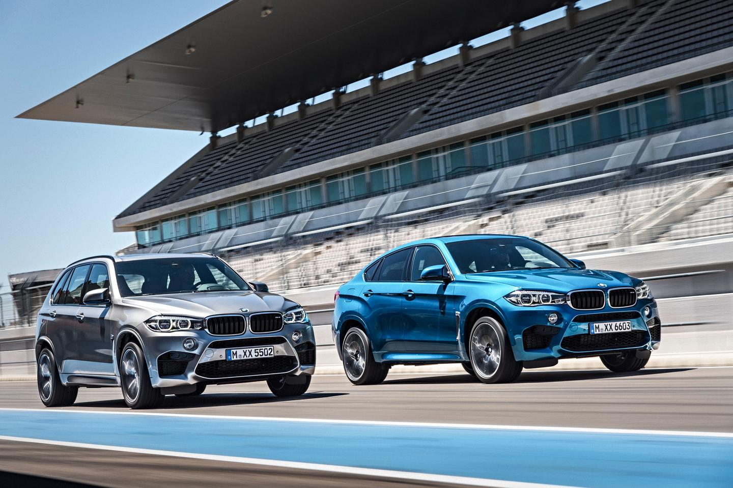 The new X5 M and X6 M are powered by a 4.4-liter V8