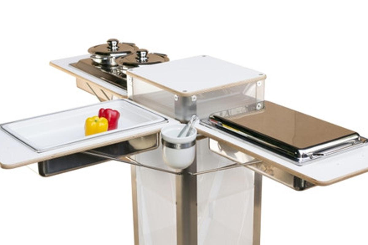 """The flix Live portable kitchen features folding """"wings"""" on three sides"""