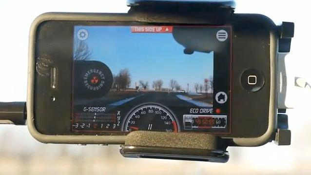 The iCar Black Box app lets your iPhone double as an accident recording system