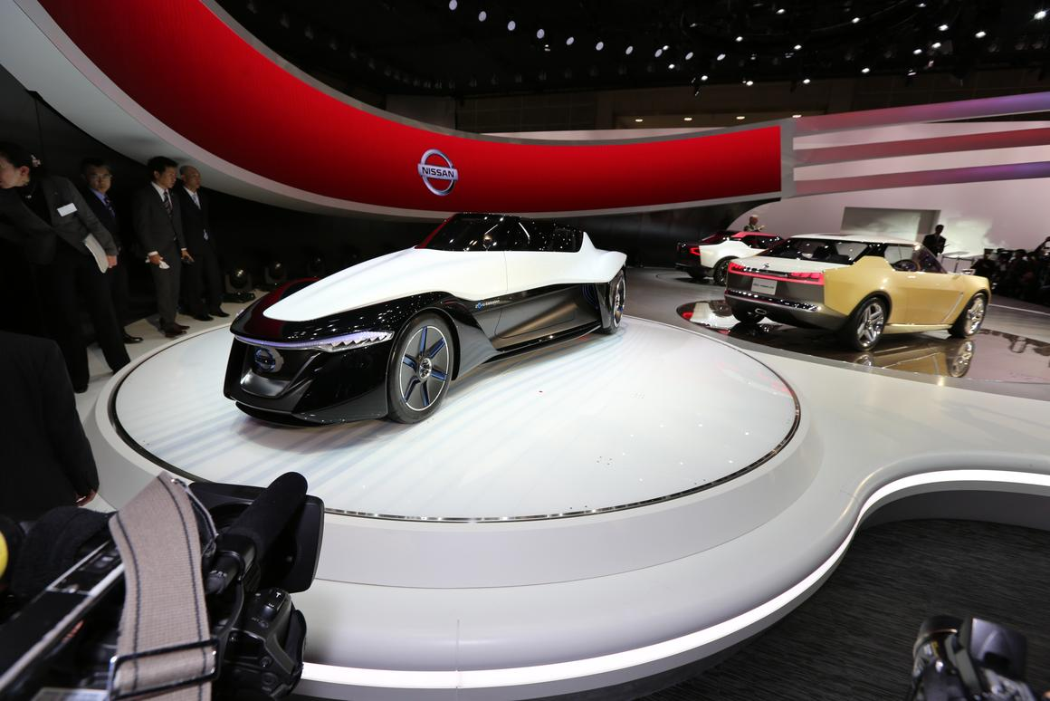 """The pick of the best concept cars at TMS 2013 at different, arrestingly beautiful, more efficient aerodynamically and hence more frugal with energy and fuel, easier on tires - Nissan's BladeGlider Concept is in my mind, the """"hamburger with the lot"""""""