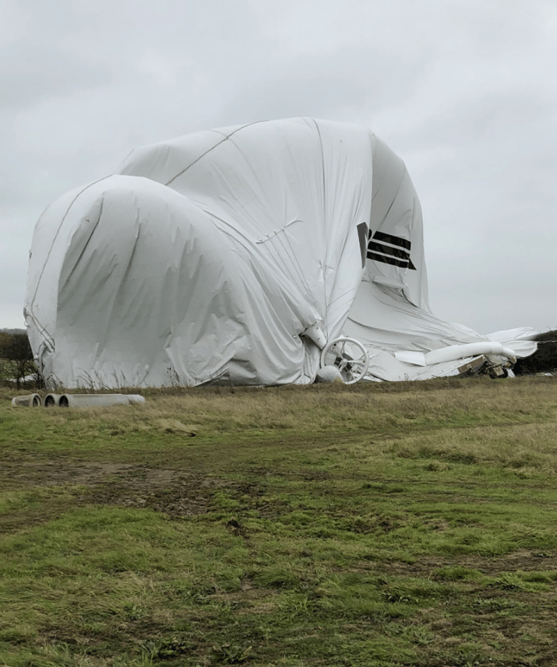 Hybrid Air Vehicles says the craft is designed to deflate automatically in just such an emergency, to prevent it damaging itself or its surroundings
