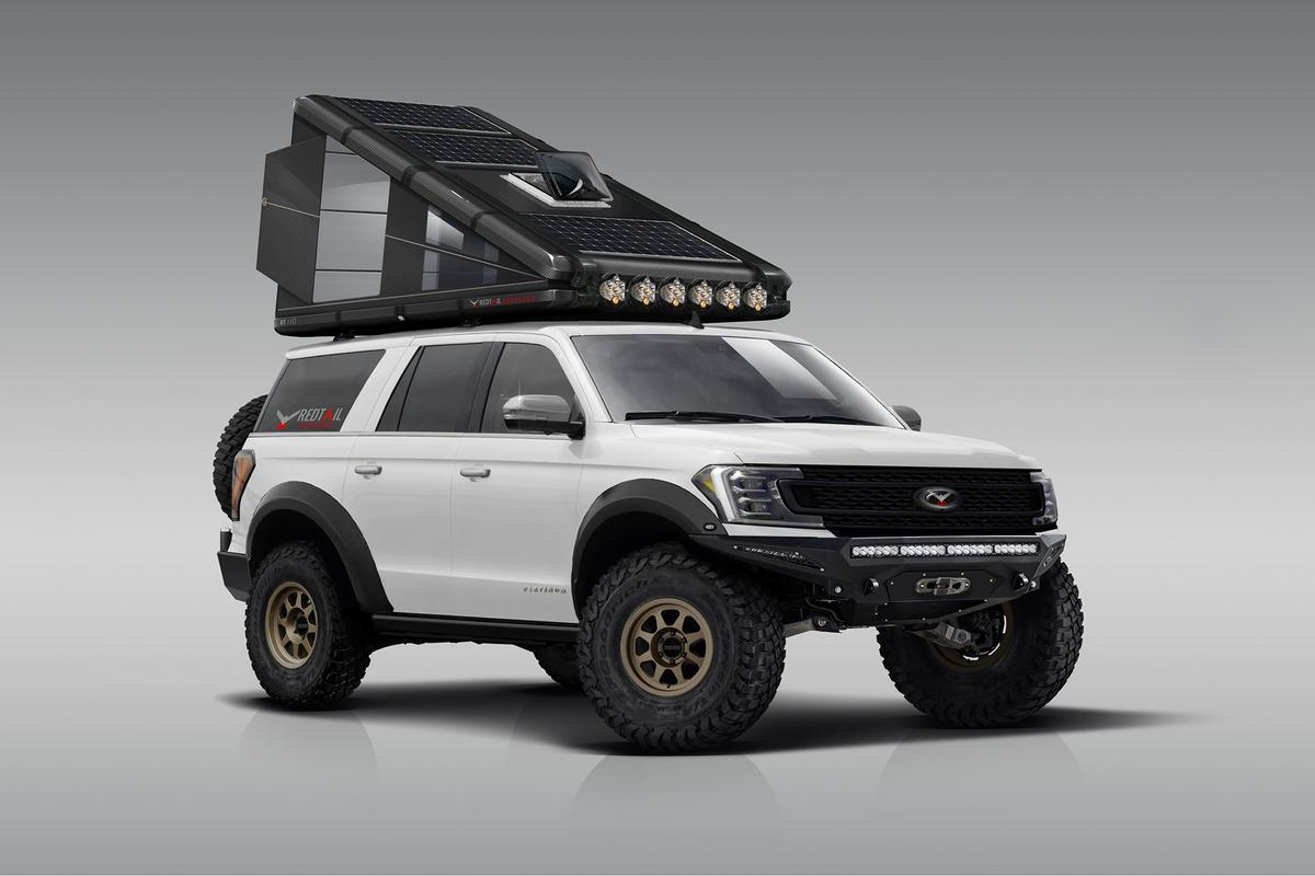 Redtail positions the 90 tent for midsize SUVs and larger vehicles, the 110 for trucks and vans