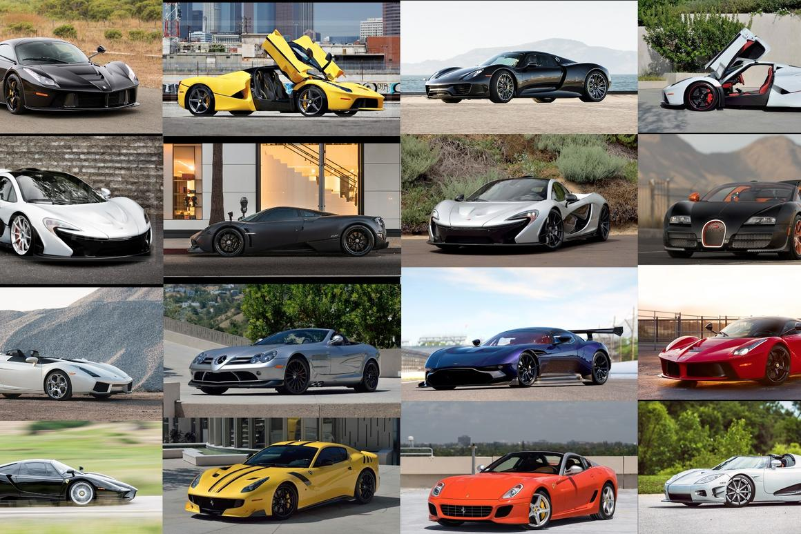 Some of the cars that will be hitting the auction block