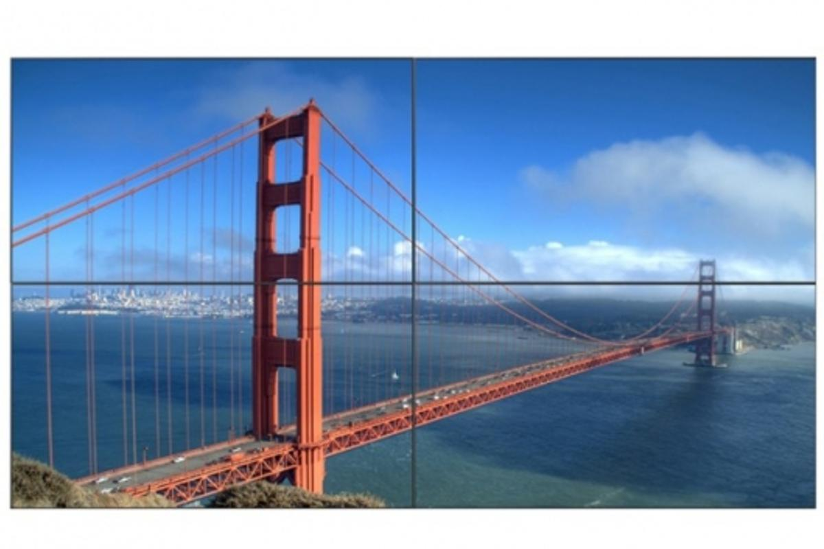 """Barely a bezel in sight on a videowall using Samsung's 460UTn 46"""" LCD Professional Displays"""
