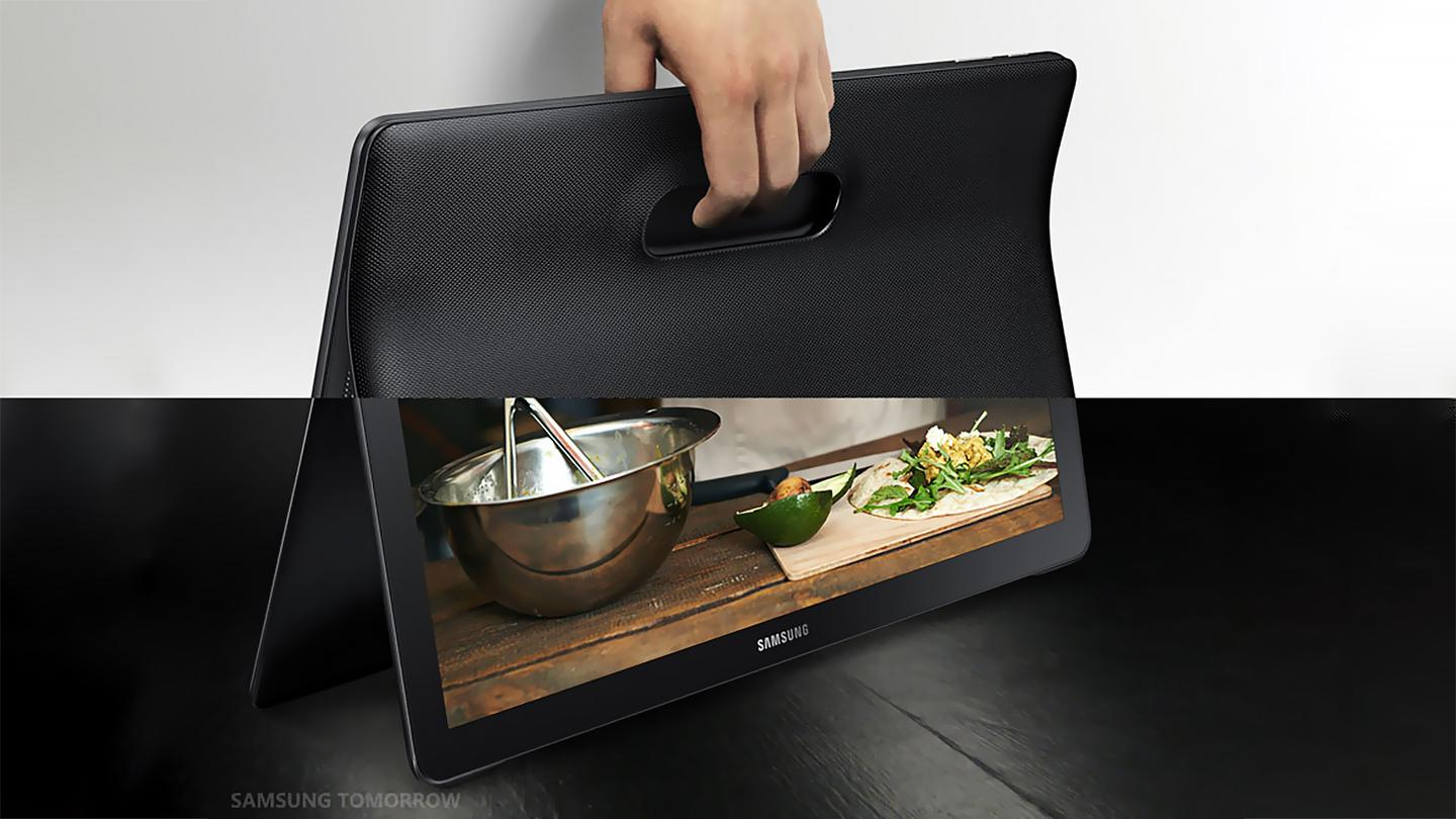 Samsung's Galaxy View is a tablet that basically serves as a portable streaming TV