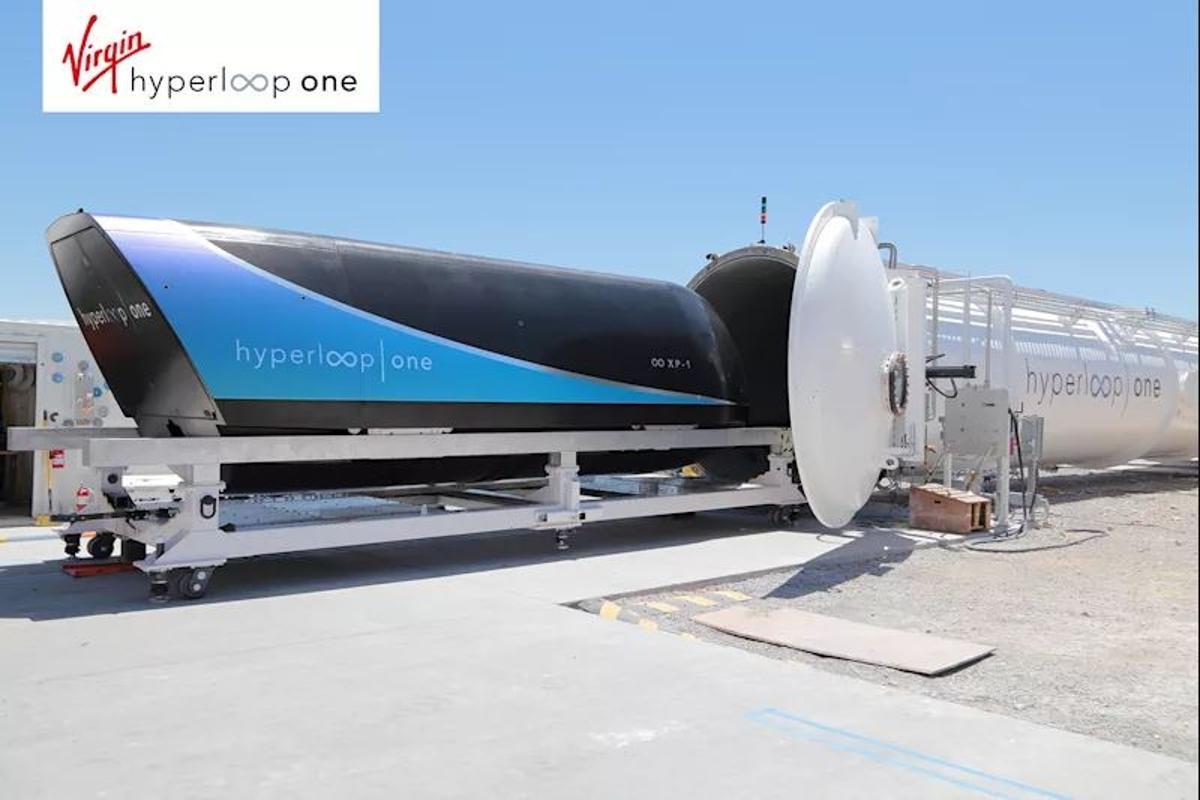 Virgin Hyperloop One uses pods travelling through evacuated tubes