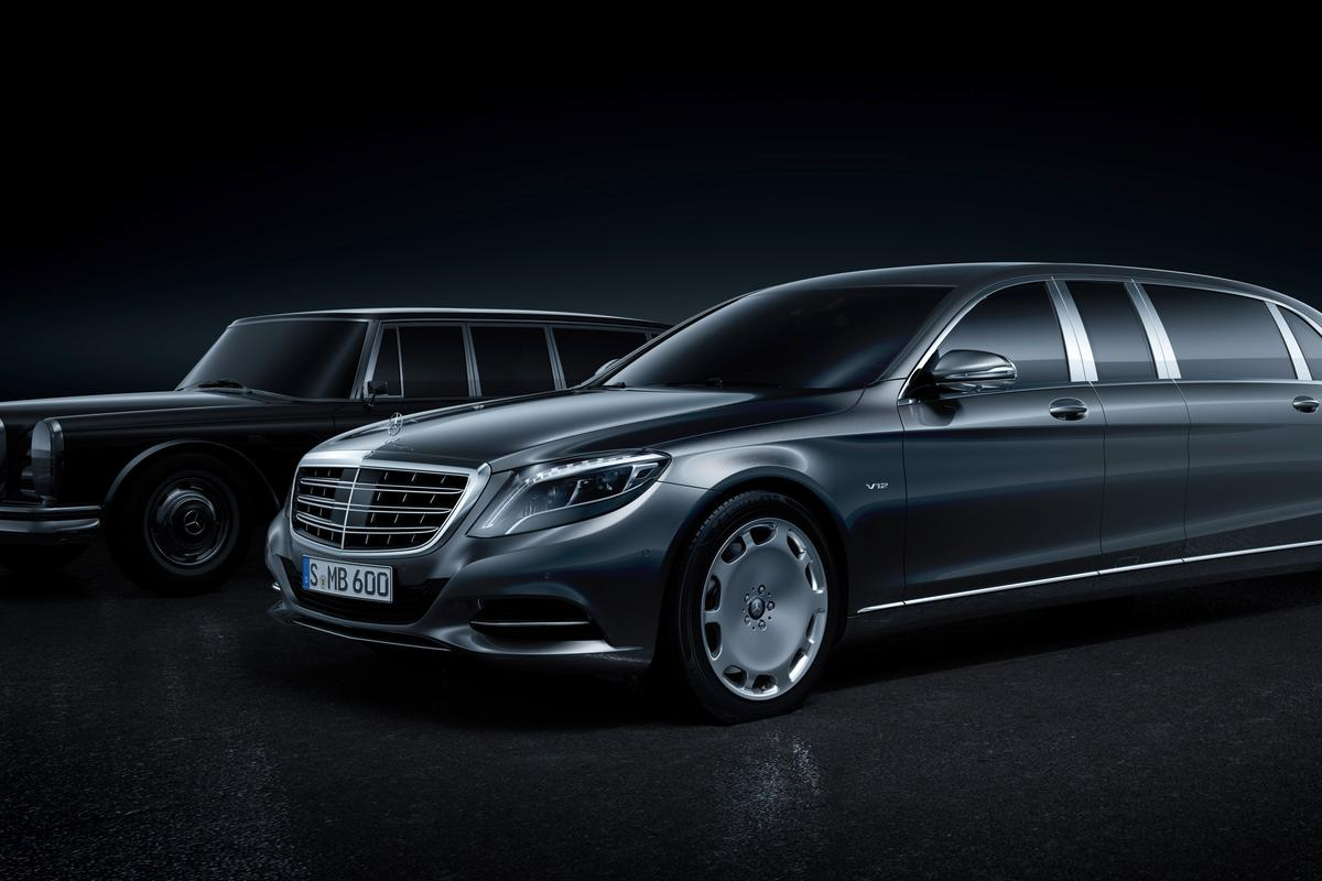 The Mercedes-Maybach Pullman with the Mercedes-Benz 600 Pullman